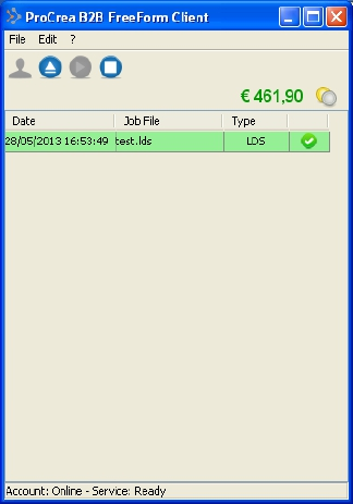 Crea Free Form Client Main Window